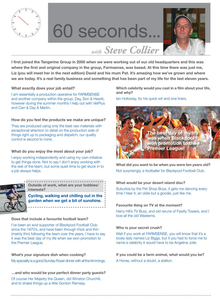 60 seconds with Steve Collier